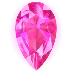 Chatham Pink Sapphire Pear Cut - Fire & Brilliance