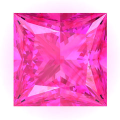 Chatham Pink Sapphire Princess Cut - Fire & Brilliance