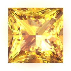 FAB Yellow Sapphire Princess Cut - Fire & Brilliance