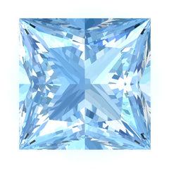 FAB Aqua Blue Spinel Sapphire Princess Cut - Fire & Brilliance