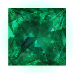 Chatham Emerald Princess Cut - Fire & Brilliance