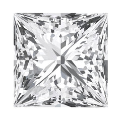 Chatham White Sapphire Princess Cut - Fire & Brilliance