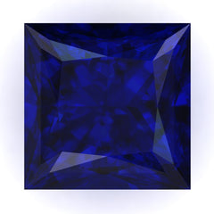 FAB Blue Sapphire Princess Cut - Fire & Brilliance