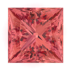 Chatham Padparadscha Sapphire Princess Cut - Fire & Brilliance