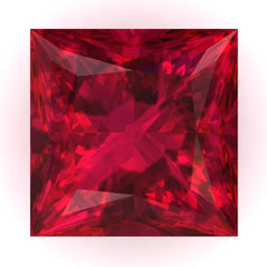 Chatham Ruby Princess Cut - Fire & Brilliance