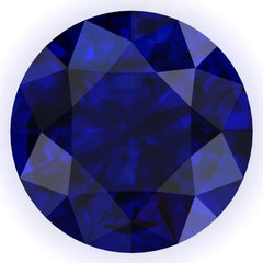 FAB Blue Sapphire Round Cut - Fire & Brilliance