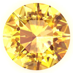 FAB Yellow Sapphire Round Cut - Fire & Brilliance