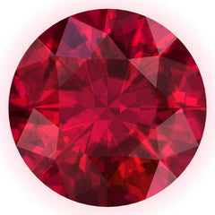 FAB Ruby Round Cut - Fire & Brilliance