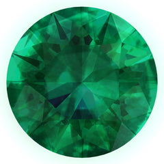 FAB Emerald Round Cut - Fire & Brilliance