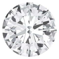 Chatham White Sapphire Round Cut - Fire & Brilliance