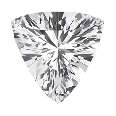 Chatham White Sapphire Trillion Cut - Fire & Brilliance