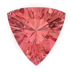Chatham Padparadscha Sapphire Trillion Cut - Fire & Brilliance