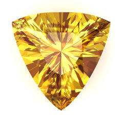 FAB Yellow Sapphire Trillion Cut - Fire & Brilliance