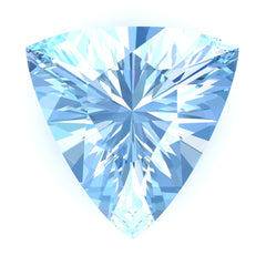 FAB Aqua Blue Spinel Sapphire Trillion Cut - Fire & Brilliance