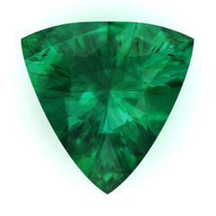 FAB Emerald Trillion Cut - Fire & Brilliance