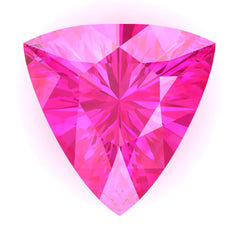 Chatham Pink Sapphire Trillion Cut - Fire & Brilliance