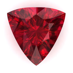 Chatham Ruby Trillion Cut - Fire & Brilliance