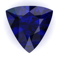 FAB Blue Sapphire Trillion Cut - Fire & Brilliance