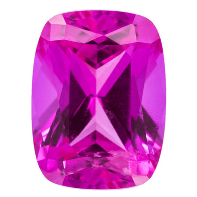 Antique Cushion Chatham Lab-Grown Pink Sapphire Gems-Chatham Lab-Grown Gems-Fire & Brilliance ®