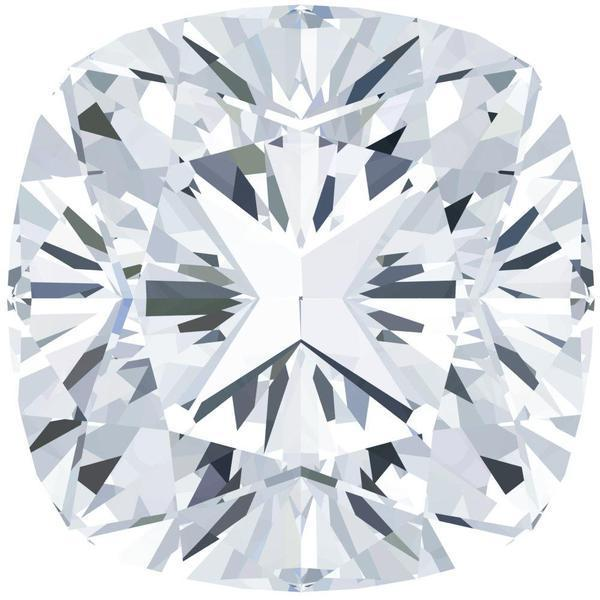 Certified Cushion Fire & Brilliance Loose Moissanite Stone - 2.00 Carats - F Color - VVS1 Clarity-Fire & Brilliance Moissanite-Fire & Brilliance ®
