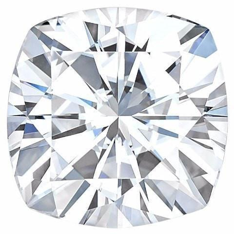 Certified Cushion Forever One Charles & Colvard Loose Moissanite Stone - 1.30 Carat - E Color - VVS1 Clarity-Certified Forever ONE Moissanite-Fire & Brilliance ®