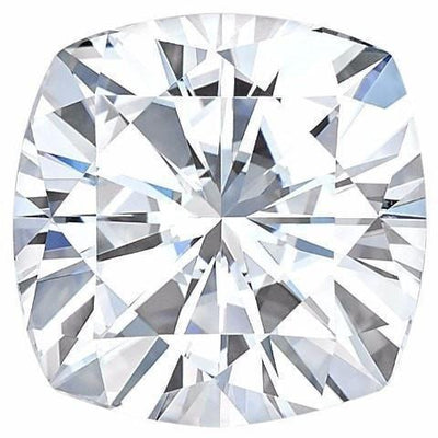 Certified Cushion Forever One Charles & Colvard Loose Moissanite Stone - 1.30 Carats - D Color - VVS1 Clarity-FIRE & BRILLIANCE