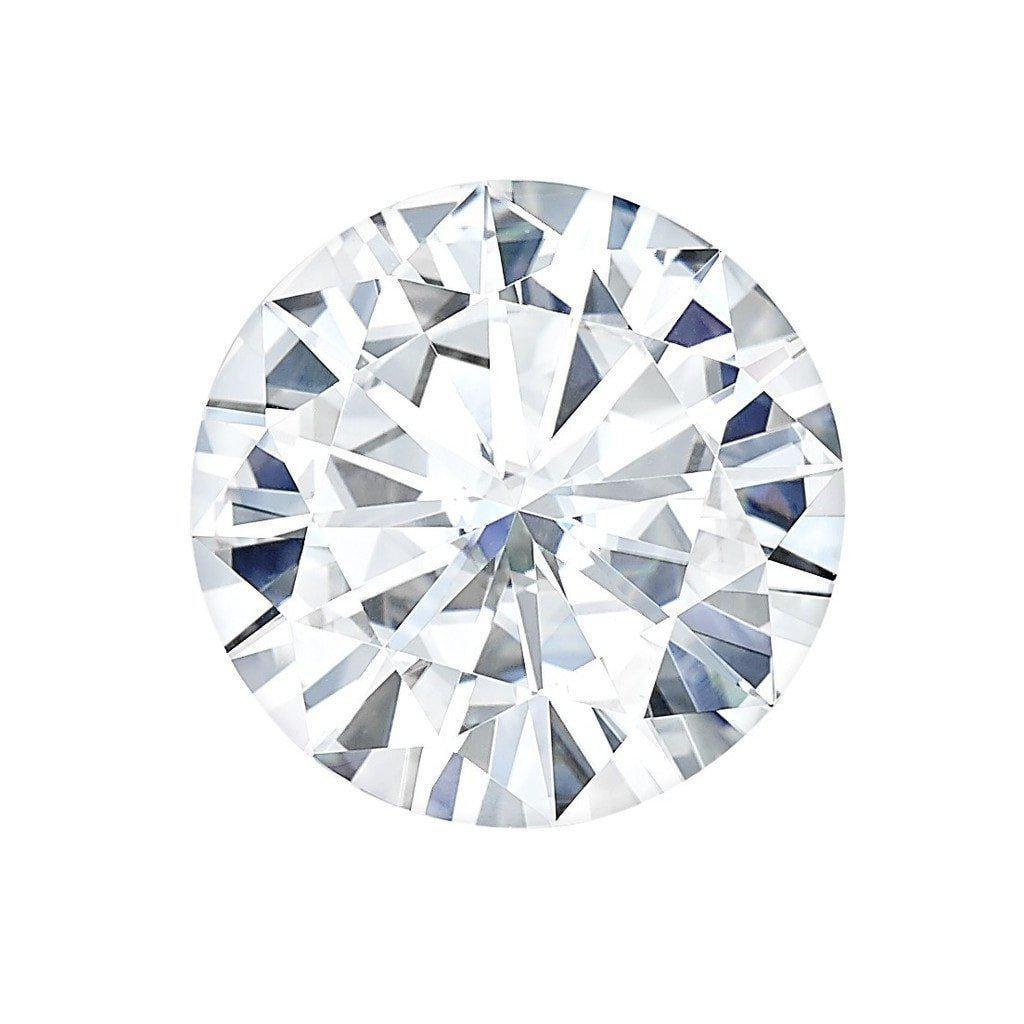 Certified Round Forever One Charles & Colvard Loose Moissanite Stone - 1.00 Carats - D Color - VVS1 Clarity-Certified Forever ONE Moissanite-Fire & Brilliance ®