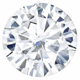 Certified Round Forever One Charles & Colvard Loose Moissanite Stone - 1.25 Carat - D Color - VVS1 Clarity-Certified Forever ONE Moissanite-Fire & Brilliance ®
