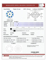 Certified Round Forever One Charles & Colvard Loose Moissanite Stone - 2.00 Carats - D Color - VVS1 Clarity-Certified Forever ONE Moissanite-Fire & Brilliance ®