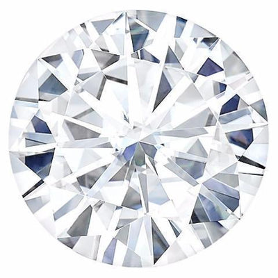 Certified Round Forever One Charles & Colvard Loose Moissanite Stone - 2.00 Carats - D Color - VVS1 Clarity-FIRE & BRILLIANCE