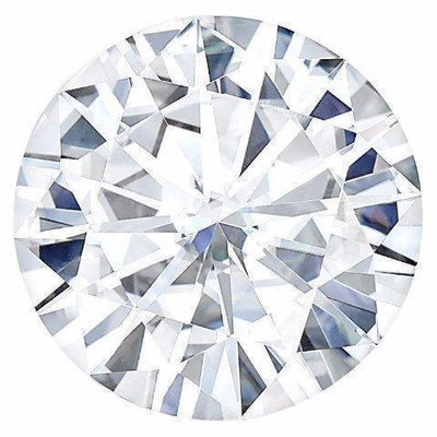 Certified Round Forever One Charles & Colvard Loose Moissanite Stone - 3.50 Carats - E Color - VVS1 Clarity-Certified Forever ONE Moissanite-Fire & Brilliance ®