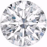 Certified Round Hearts & Arrows Forever One Charles & Colvard Loose Moissanite Stone - 2.50 Carats - D Color - VVS2 Clarity-Certified Forever ONE Moissanite-Fire & Brilliance ®