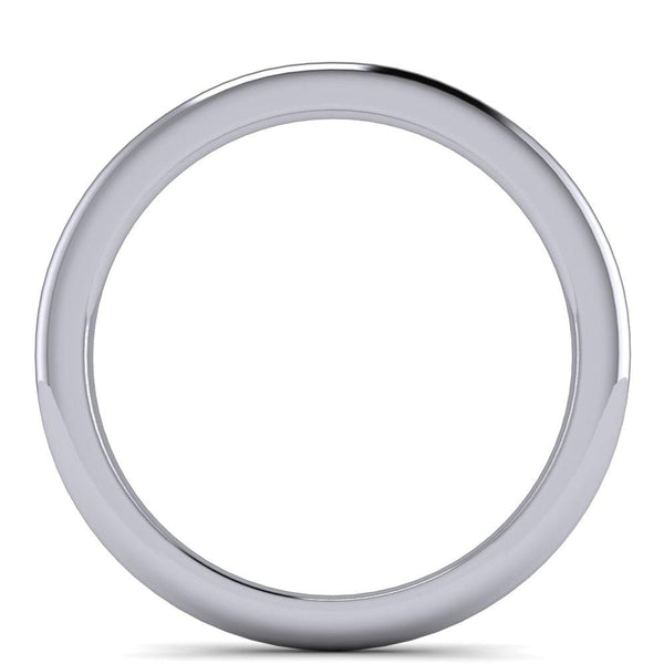 Plain Straight Platinum Wedding Band-Fire & Brilliance ® Creative Designs-Fire & Brilliance ®