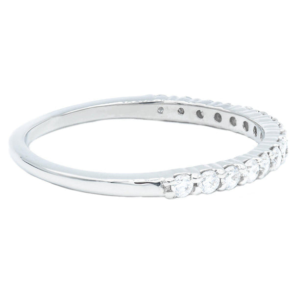Round Diamond Platinum 1/2 Eternity Band-Fire & Brilliance ® Creative Designs-Fire & Brilliance ®