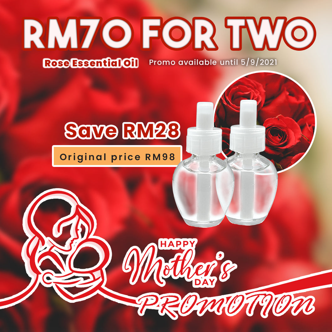 *Mother's Day Promo* Two Rose Essential Oil only RM70 【Save RM28】