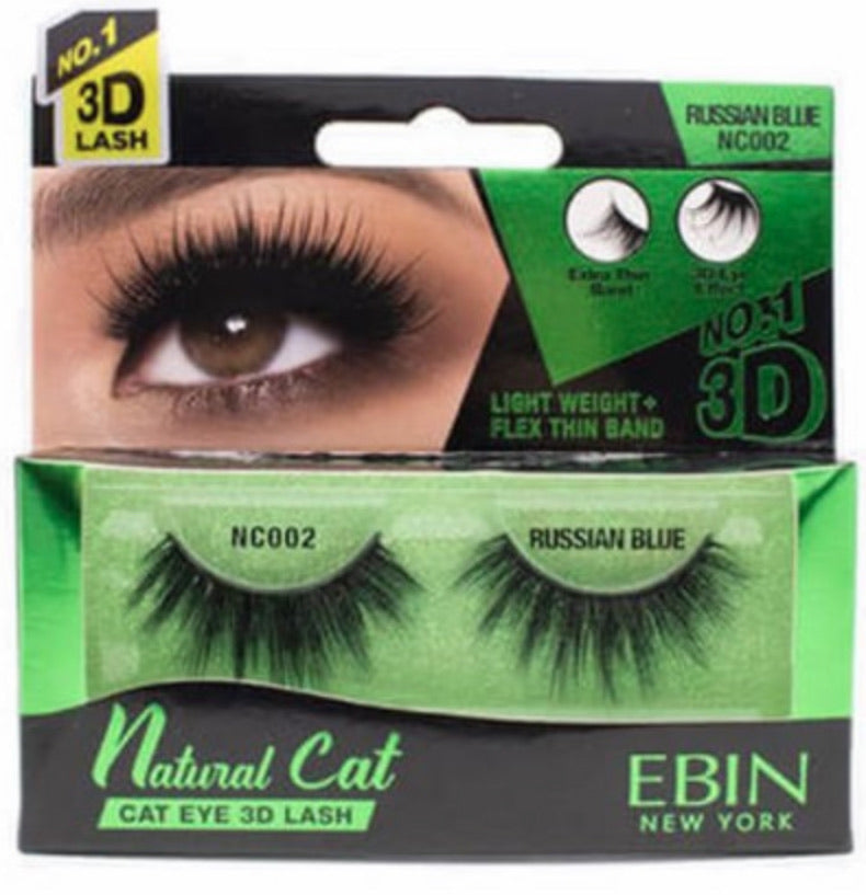 Ebin New York Natural Cat 3D Lash Russian Blue NC002