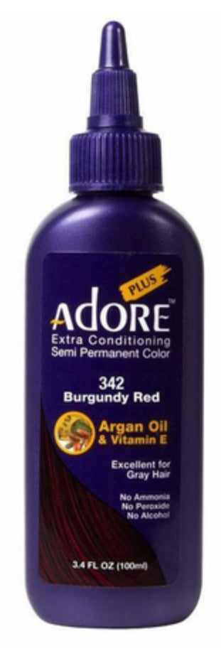 Adore Plus Semi Permanent Hair Color 342 Burgundy Red