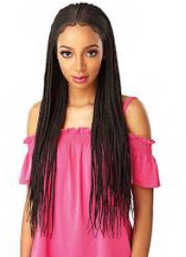 Sensationnel Cloud 9 Synthetic Hair 13x5 Lace Parting 100% Kanekalon Hand-Braided Swiss Lace Wig - FULANI CORNROW