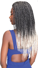 Janet Collection Pre- Feathered 4X EZ Tex Senegalese Twist 18""