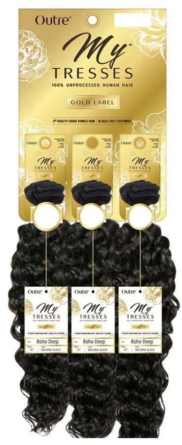 "Outré My Tresses Gold Label Boho Deep 100% Unprocessed Human Hair 16"" 18"" 20"""