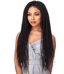 Swiss Lace Box Braid Wig