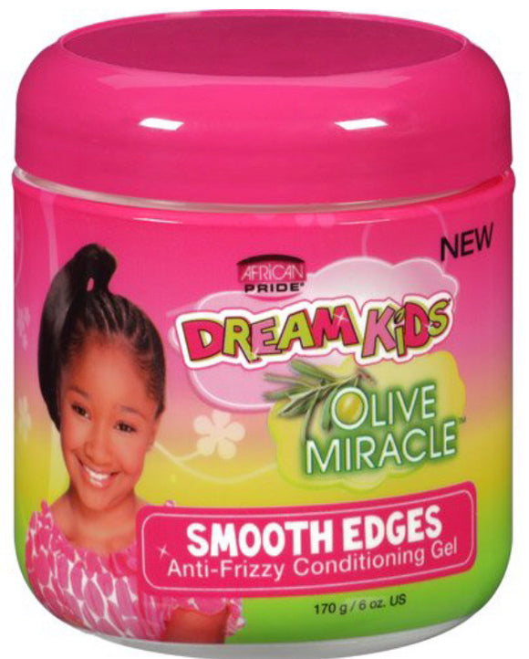 African Pride Dream Kids Olive Miracle Smooth Edges Anti-Frizz Conditioning Gel