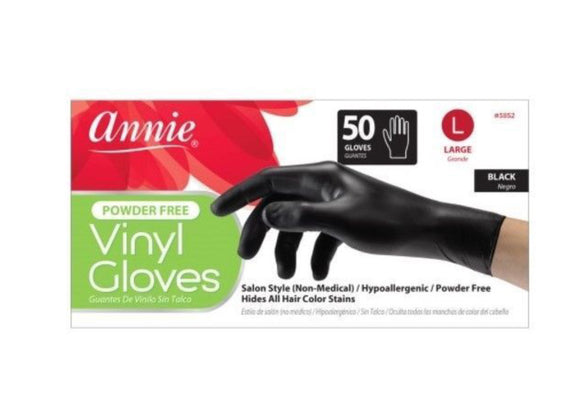 Vinyl Gloves Black Large