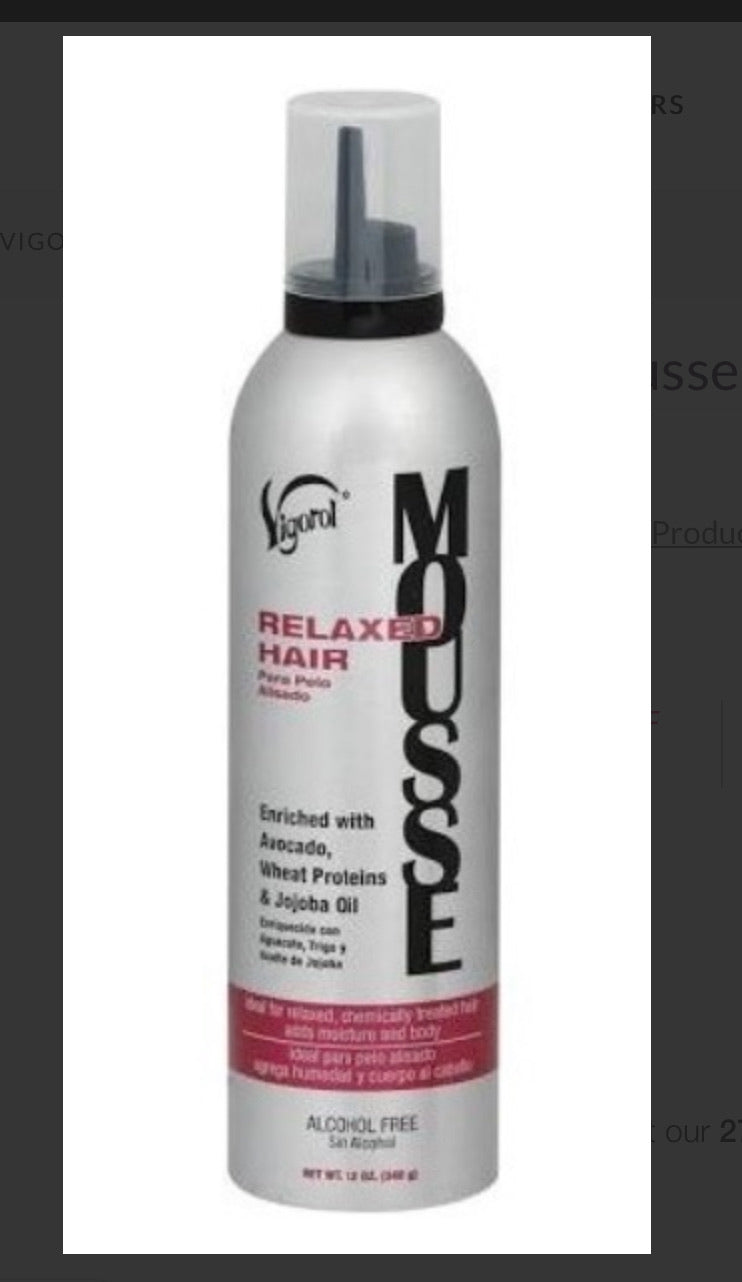 Vigorol Relaxed Hair Mousse 12 oz.