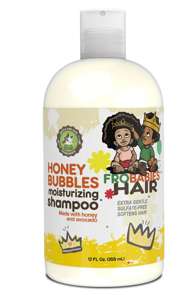 Fro Babies Honey Bubbles Moisturizing Shampoo 12 oz.