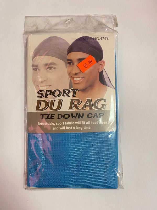 Sport Du Rag Tie Down Cap (Powder Blue)