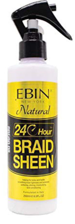 EBIN NEW YORK 24 Hour Braid Sheen Spray to Nourish Hair and Scalp | Braids, Locs & Twists