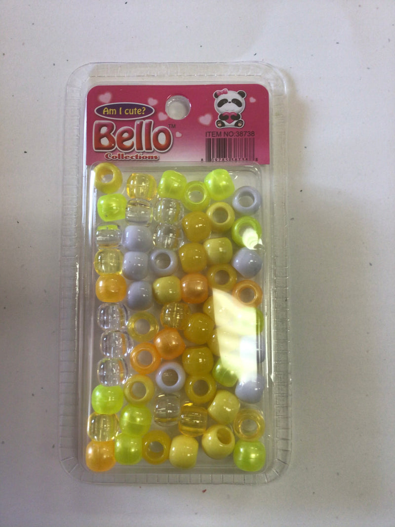 Bello Collection Yellow Assorted Beads