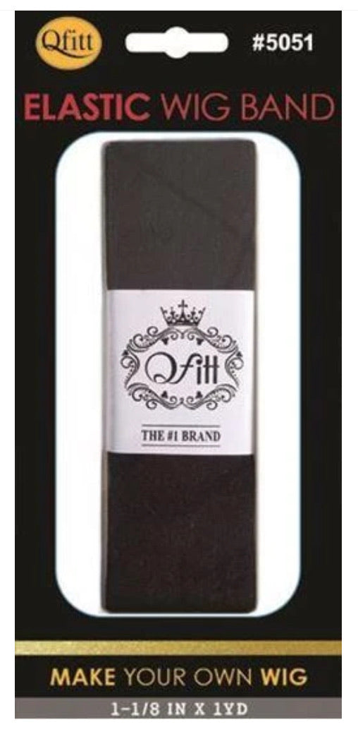 Qfitt Wig Band Black 1 Yard