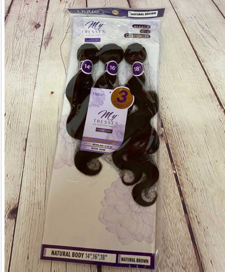"HH MYTRESSES- PURPLE LABEL-NATURAL BODY 14"",16""18"" -Natural"